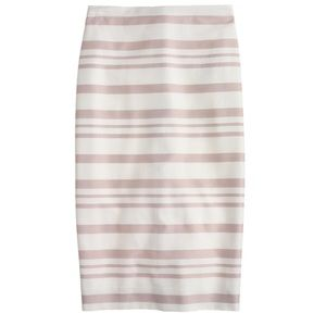 J. Crew Double Stripe Pencil Skirt Size 6